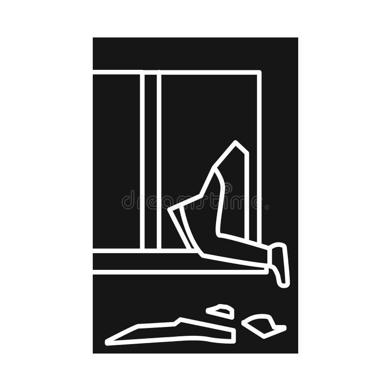 Geïsoleerd voorwerp van gebroken en venstersymbool Inzameling van het gebroken en symbool van de veiligheidsvoorraad voor Web royalty-vrije illustratie