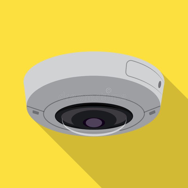 Geïsoleerd voorwerp van het teken van kabeltelevisie en van de camera Inzameling van kabeltelevisie en het symbool van de systeem vector illustratie