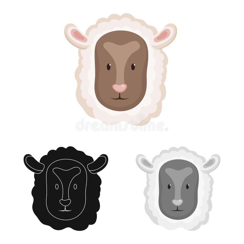 Geïsoleerd voorwerp van kuiken en gezichtsembleem Reeks van kuiken en kippenvoorraadsymbool voor Web vector illustratie