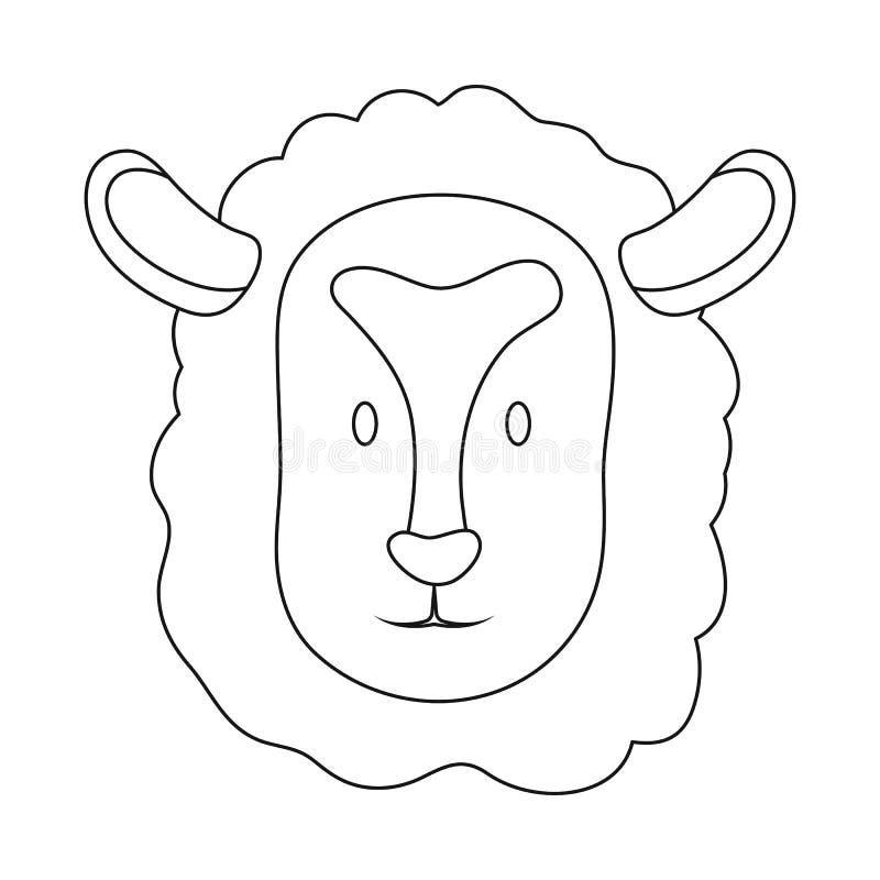 Geïsoleerd voorwerp van kuiken en gezichtsteken Reeks van kuiken en kippenvoorraad vectorillustratie vector illustratie