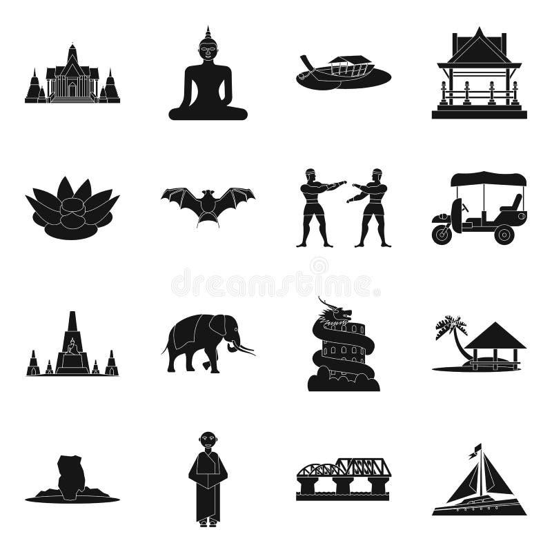 Geïsoleerd voorwerp van land en nationaal teken Reeks van land en de vectorillustratie van de reisvoorraad stock illustratie