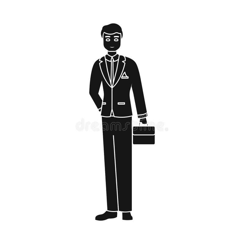 Geïsoleerd voorwerp van mensen en bedrijfspictogram Inzameling van mens en businessperson voorraad vectorillustratie vector illustratie