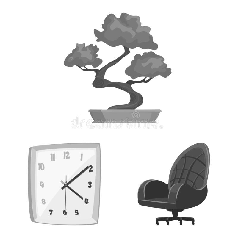 Geïsoleerd voorwerp van meubilair en het werksymbool Reeks van meubilair en huis vectorpictogram voor voorraad royalty-vrije illustratie