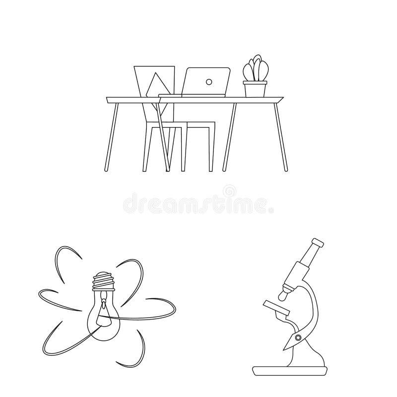 Geïsoleerd voorwerp van onderwijs en het leren symbool Reeks van onderwijs en school vectorpictogram voor voorraad vector illustratie