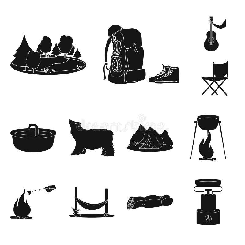 Geïsoleerd voorwerp van ontspanning en rust pictogram Reeks van ontspanning en avonturenvoorraadsymbool voor Web royalty-vrije illustratie