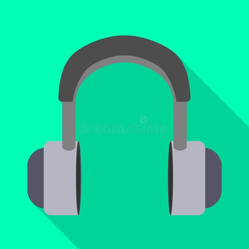 Geïsoleerd voorwerp van oortelefoon en hoofdpictogram Inzameling van oortelefoon en mobiele voorraad vectorillustratie vector illustratie