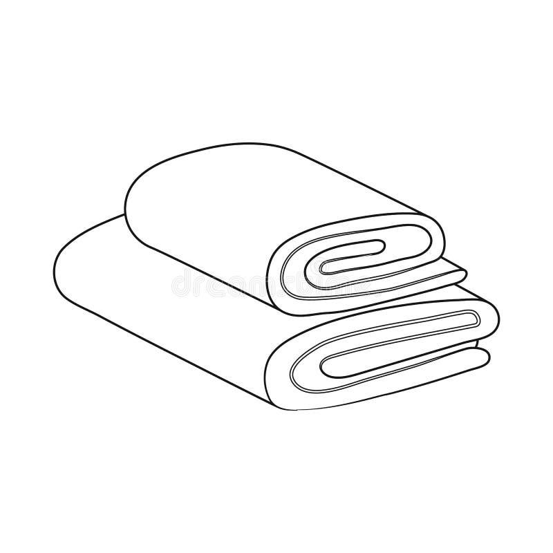 Geïsoleerd voorwerp van opgestapeld en saunapictogram Reeks van opgestapeld en douche vectorpictogram voor voorraad royalty-vrije illustratie