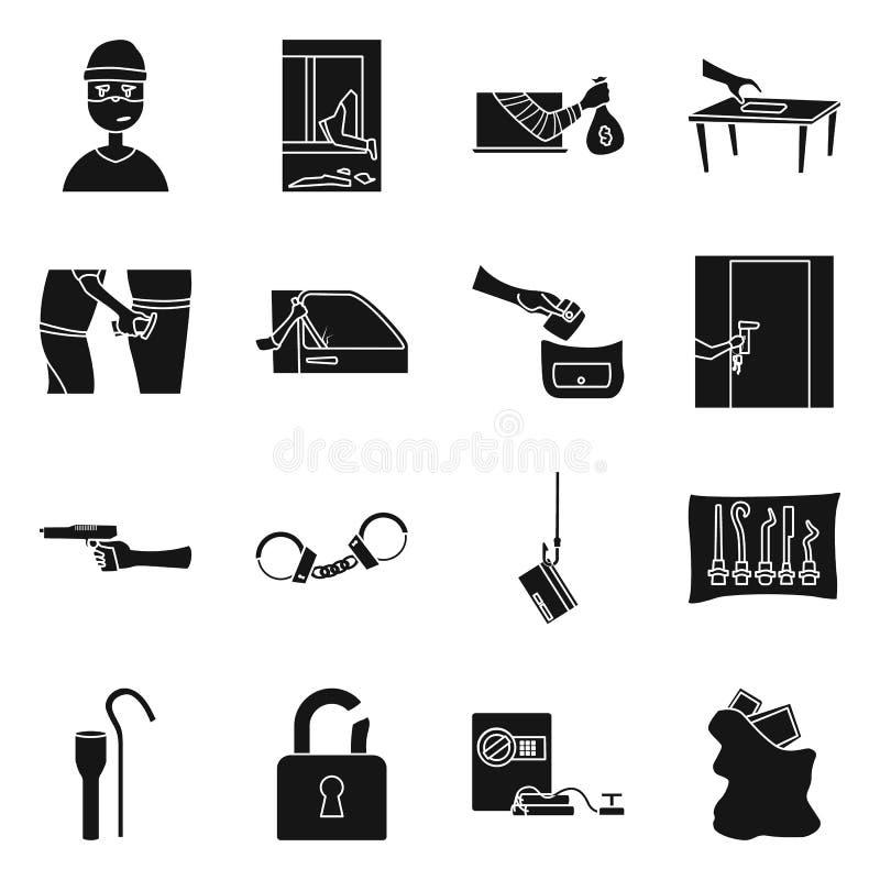 Geïsoleerd voorwerp van rover en schurkenpictogram Inzameling van rover en politievoorraadsymbool voor Web vector illustratie