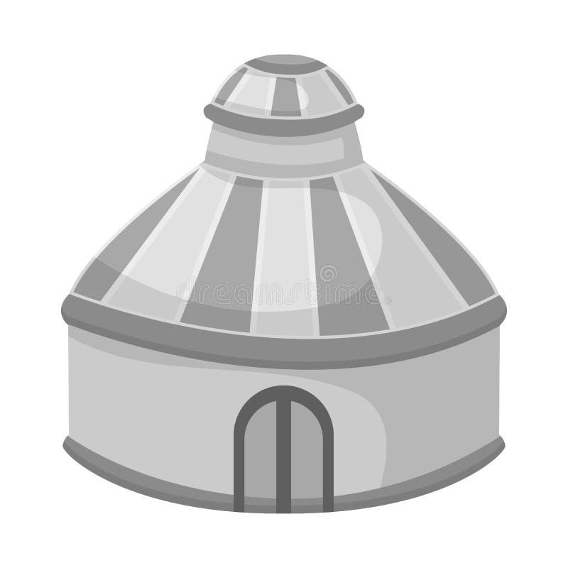 Geïsoleerd voorwerp van tent en koepelteken E royalty-vrije illustratie