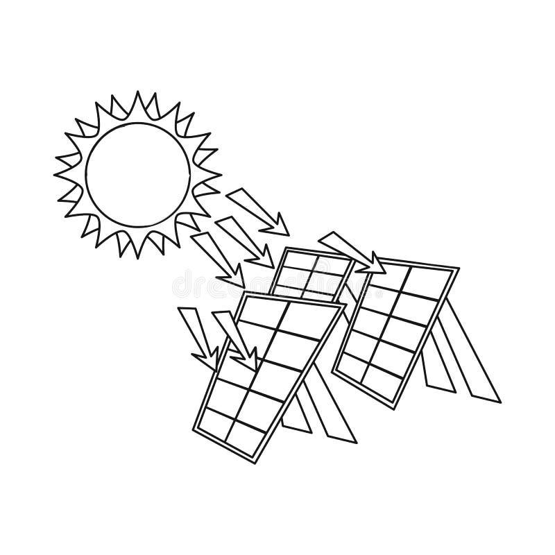 Geïsoleerd voorwerp van thermisch en postembleem Reeks van de vectorillustratie van de thermische en machtsvoorraad stock illustratie