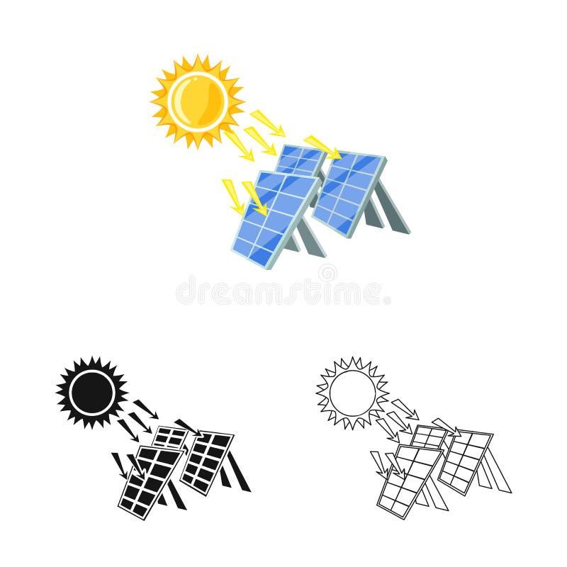 Geïsoleerd voorwerp van thermisch en postpictogram Reeks van het symbool van de thermische en machtsvoorraad voor Web royalty-vrije illustratie