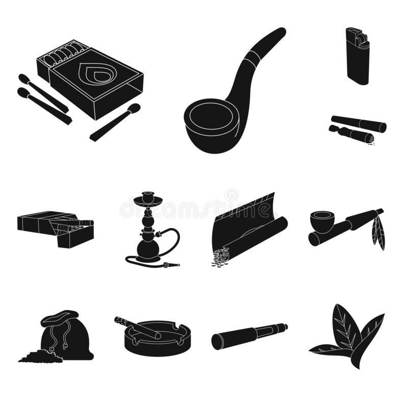 Geïsoleerd voorwerp van verslaving en euforiepictogram Inzameling van verslaving en de vectorillustratie van de gewoontevoorraad stock illustratie