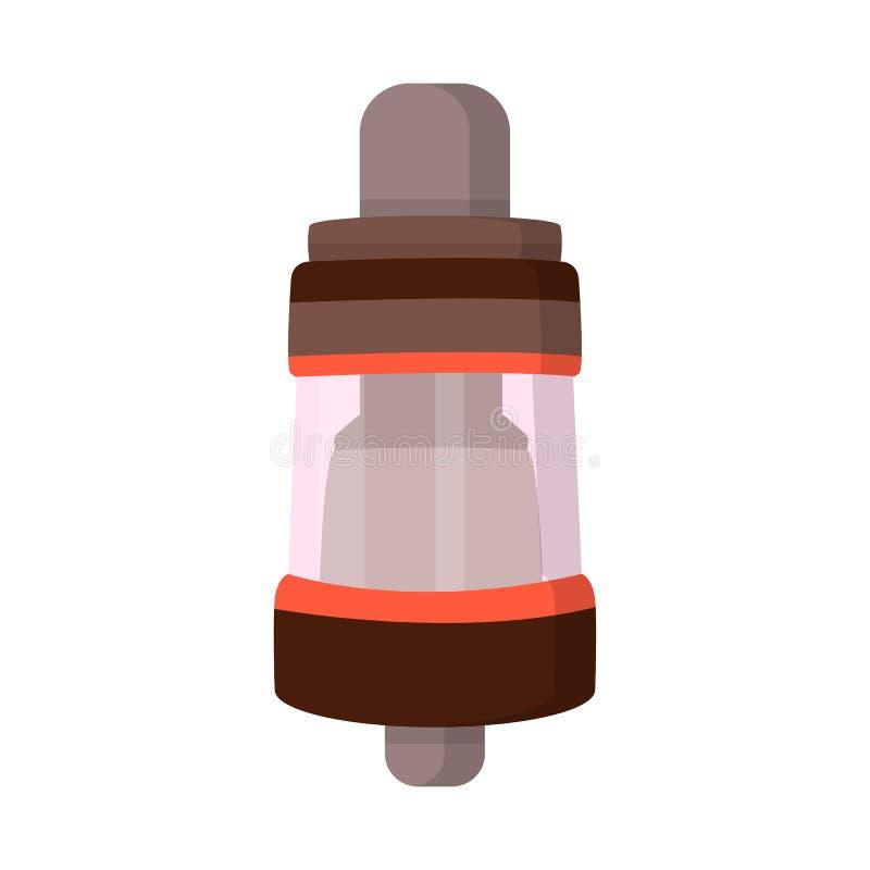 Geïsoleerd voorwerp van verstuiver en elektronisch teken Inzameling van verstuiver en rokend vectorpictogram voor voorraad stock illustratie