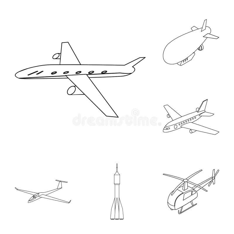 Geïsoleerd voorwerp van vervoer en objecten embleem Inzameling van vervoer en glijdend vectorpictogram voor voorraad stock illustratie