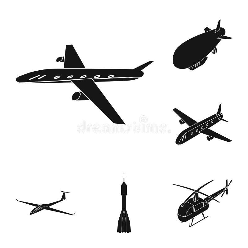 Geïsoleerd voorwerp van vervoer en objecten embleem Inzameling van vervoer en glijdende voorraad vectorillustratie stock illustratie