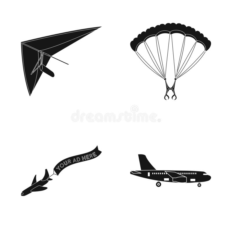 Geïsoleerd voorwerp van vervoer en objecten symbool Inzameling van vervoer en glijdend voorraadsymbool voor Web stock illustratie