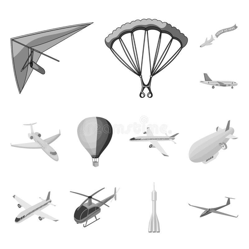 Geïsoleerd voorwerp van vervoer en objecten symbool Reeks van vervoer en glijdend voorraadsymbool voor Web vector illustratie