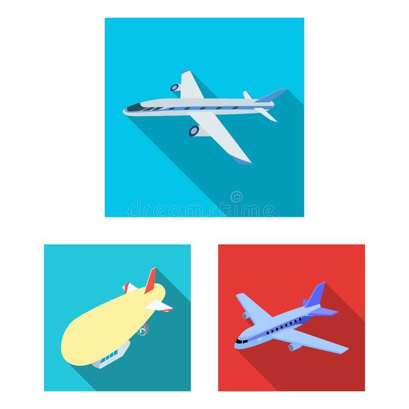 Geïsoleerd voorwerp van vervoer en objecten teken Reeks van vervoer en glijdend voorraadsymbool voor Web royalty-vrije illustratie