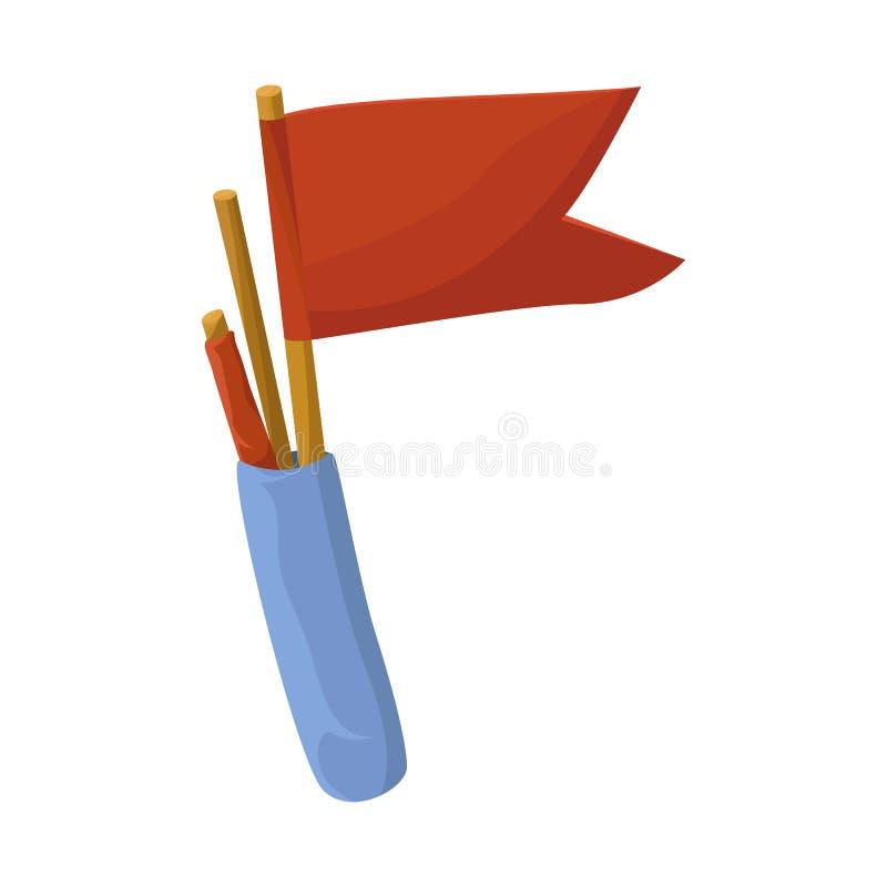 Geïsoleerd voorwerp van vlag en wimpelembleem Reeks van vlag en zeevoorraadsymbool voor Web royalty-vrije illustratie