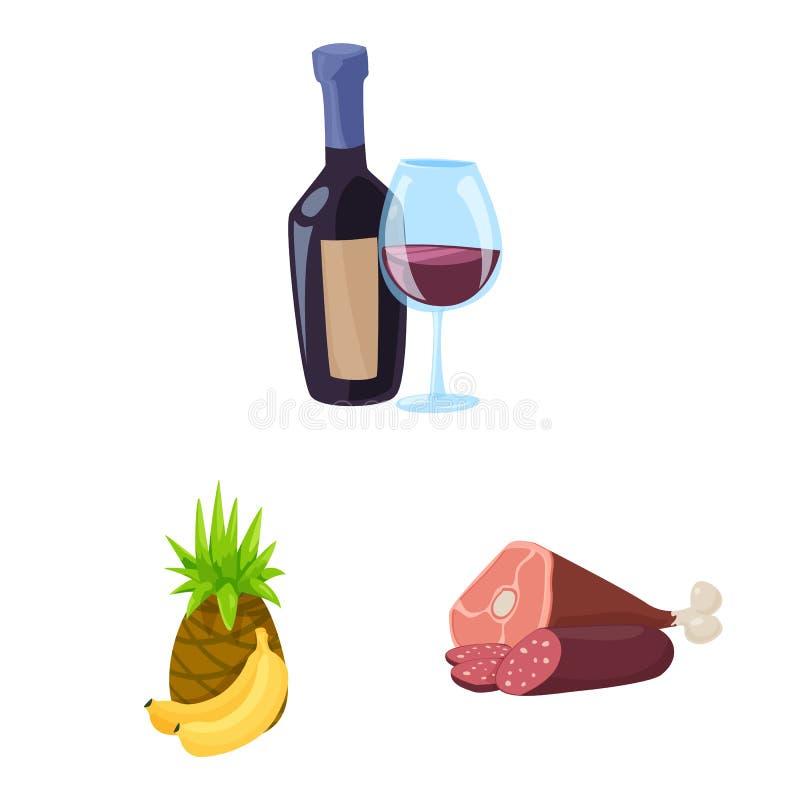 Geïsoleerd voorwerp van voedsel en drankpictogram Reeks van voedsel en opslagvoorraad vectorillustratie vector illustratie