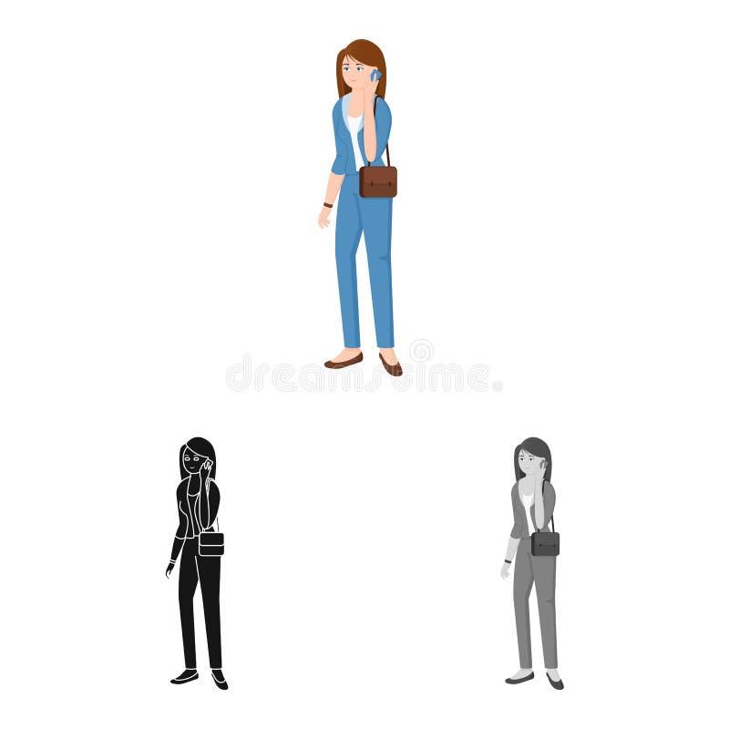 Ge?soleerd voorwerp van vrouwen en bedrijfssymbool Reeks van vrouw en businessperson voorraadsymbool voor Web stock illustratie
