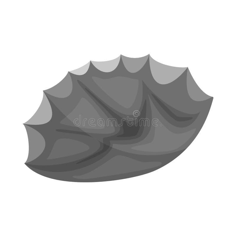 Geïsoleerd voorwerp van vuursteen en scherp teken Inzameling van vuursteen en evolutie vectorpictogram voor voorraad vector illustratie