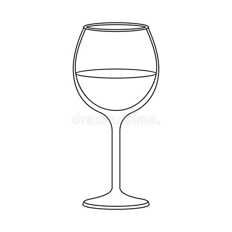 Geïsoleerd voorwerp van wijn en rood symbool Inzameling van wijn en wijnglasvoorraad vectorillustratie vector illustratie