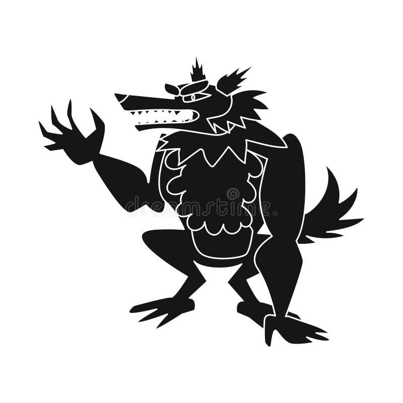 Geïsoleerd voorwerp van wolf en weerwolfembleem Reeks van wolf en wild vectorpictogram voor voorraad vector illustratie