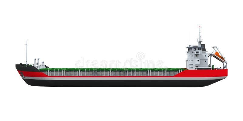 Geïsoleerd Vrachtschip stock illustratie