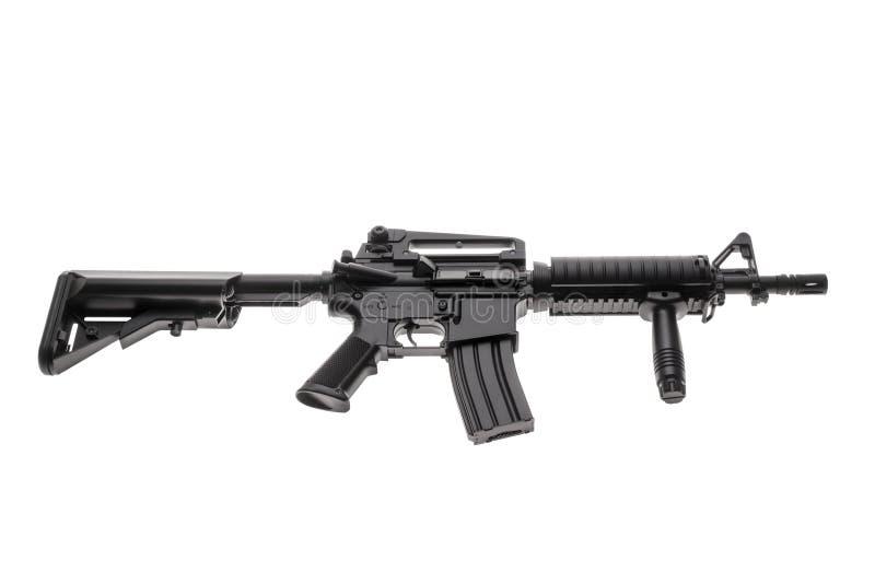 Geïsoleerd wapen AR-15 stock foto