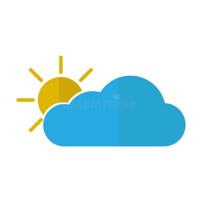 Geïsoleerd zonnig weerpictogram royalty-vrije illustratie