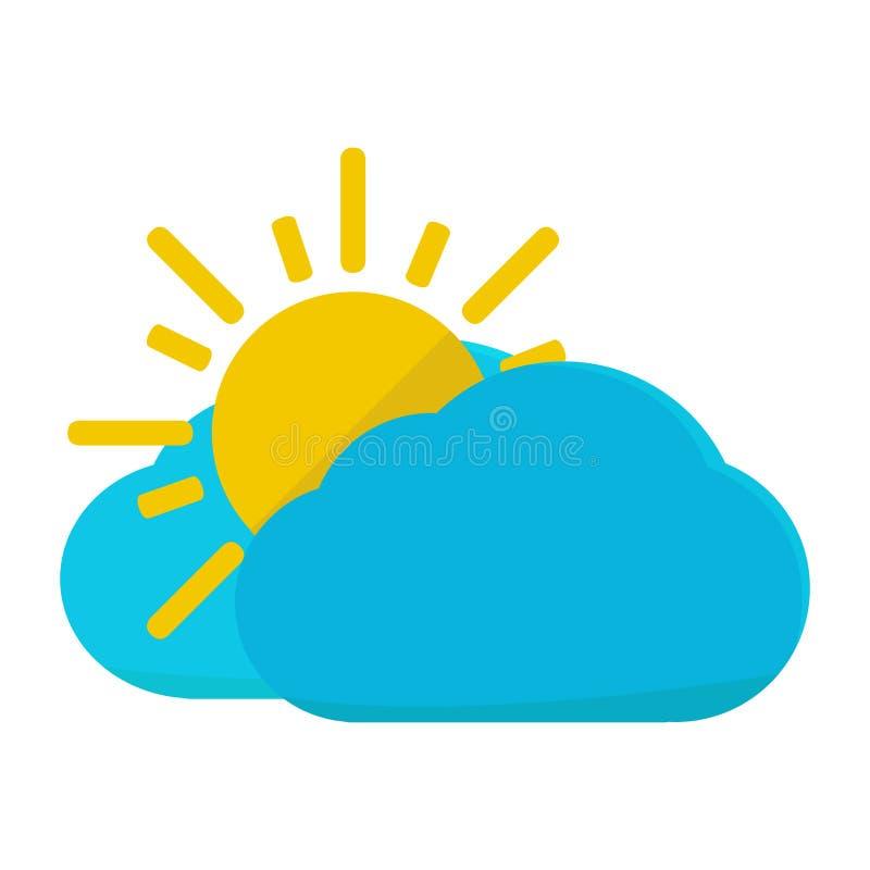 Geïsoleerd zonnig weerpictogram stock illustratie