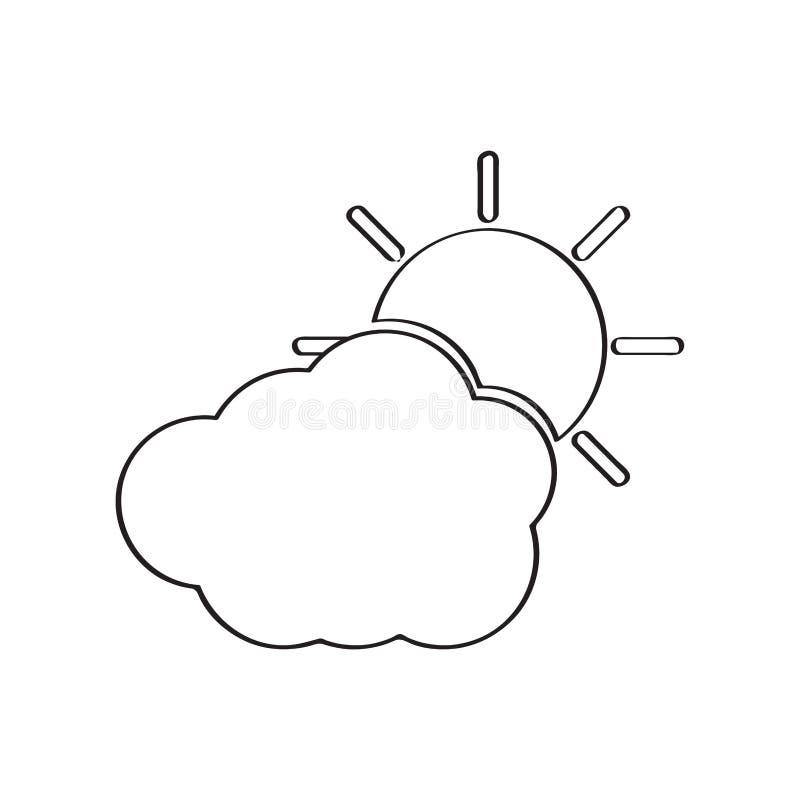 Geïsoleerd zonnig weerpictogram vector illustratie