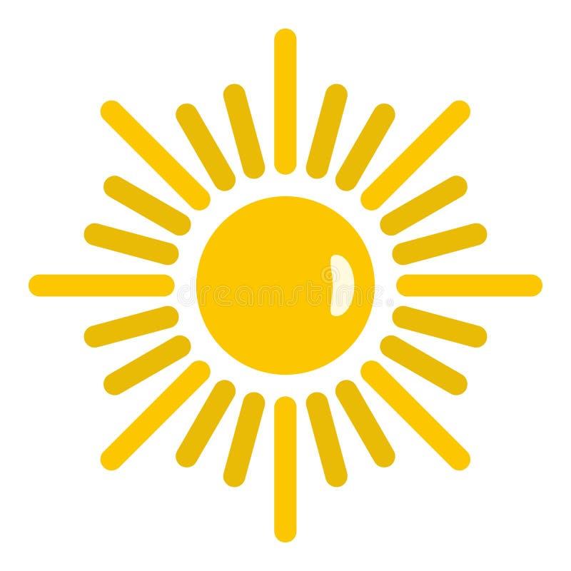 Geïsoleerd zonpictogram vector illustratie