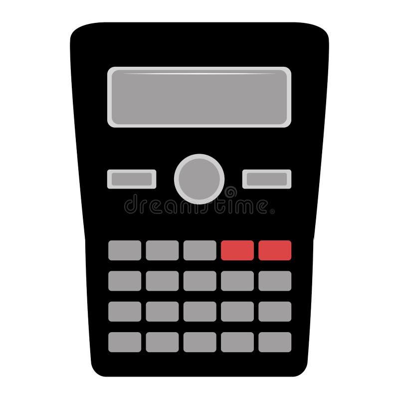 Geïsoleerd zwart calculatorpictogram stock illustratie