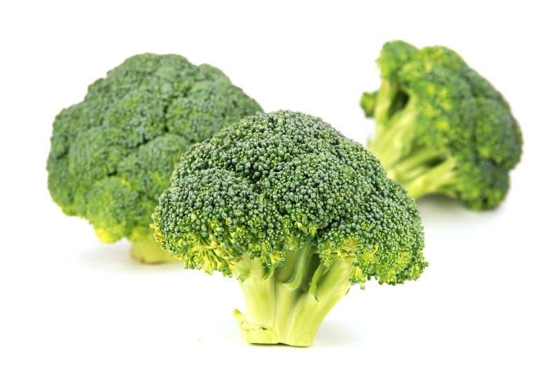 Geïsoleerda broccolipatroon stock foto