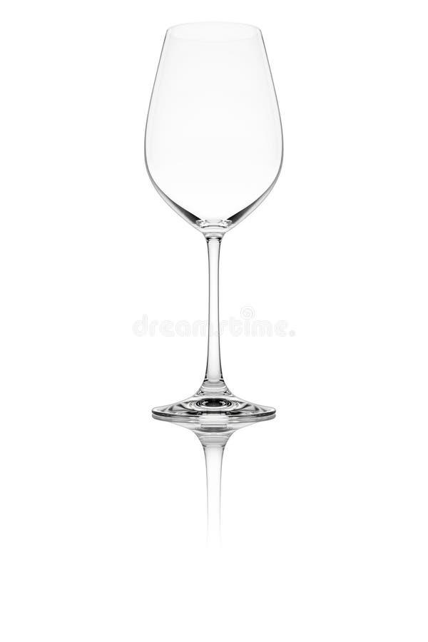 Geïsoleerda wijnglas royalty-vrije stock afbeelding