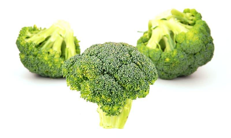 Geïsoleerdd broccolipatroon stock fotografie