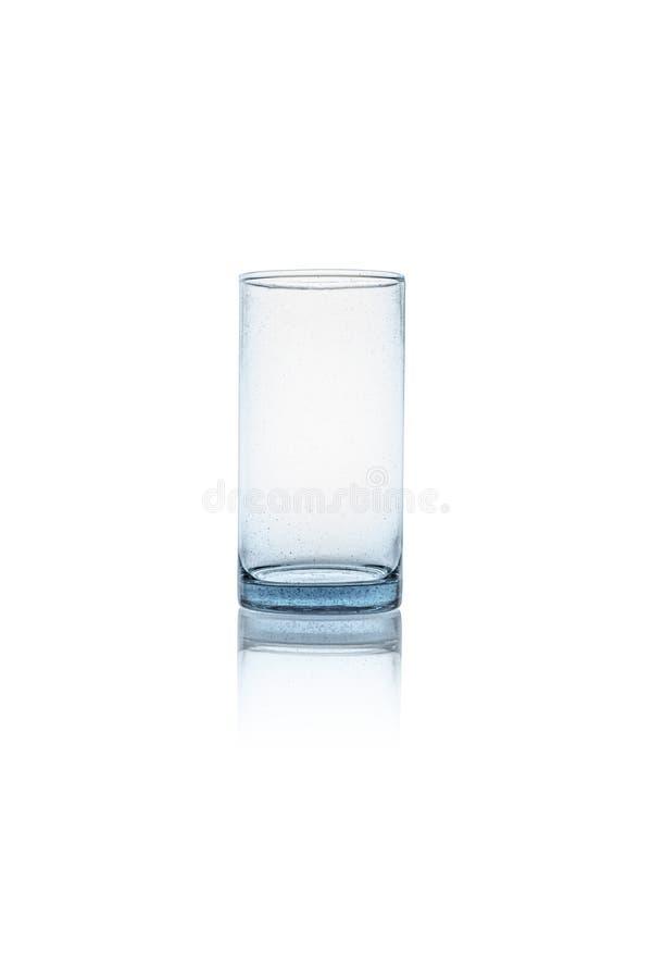 Geïsoleerdd leeg glas stock afbeeldingen