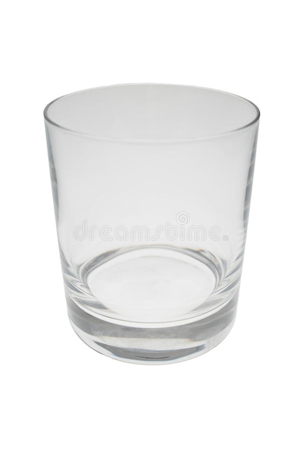 Geïsoleerdd leeg glas stock foto's
