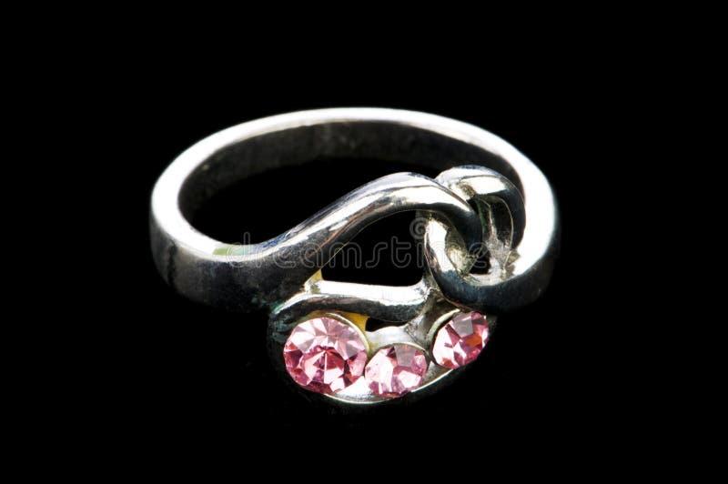 Geïsoleerdeàde ring van juwelen royalty-vrije stock afbeeldingen