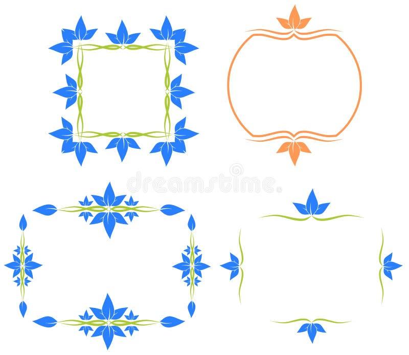 Geïsoleerde Abstracte kleurrijke reeks van etiket royalty-vrije illustratie