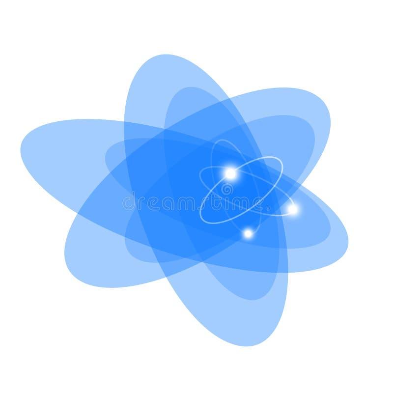 Geïsoleerde atoom royalty-vrije illustratie