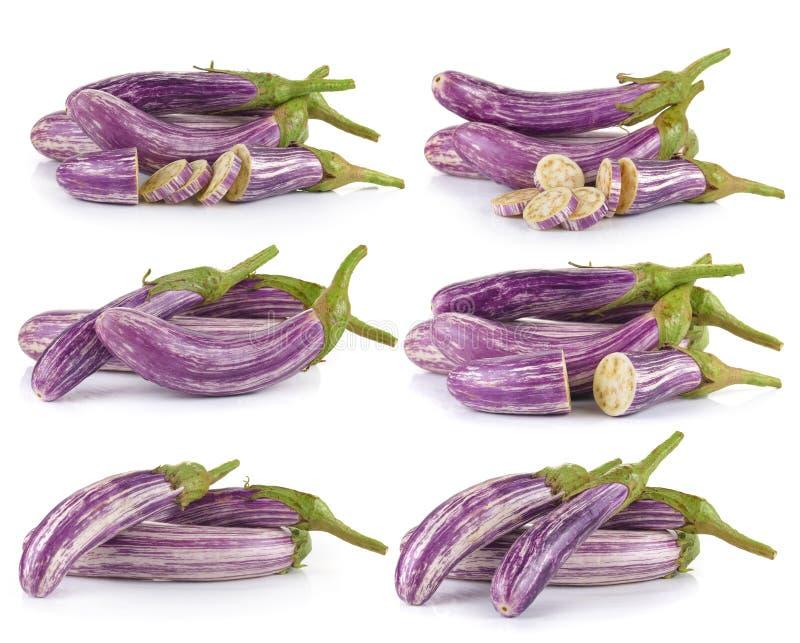 Geïsoleerde aubergine royalty-vrije stock foto