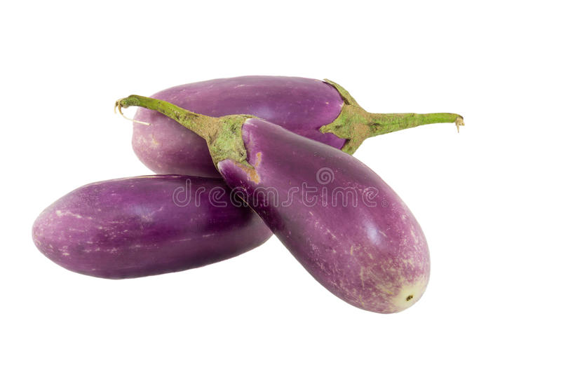 Geïsoleerde aubergine royalty-vrije stock foto's