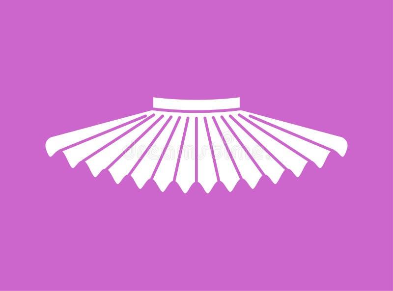 Geïsoleerde ballettutu Rok van ballerina Vector illustratie vector illustratie