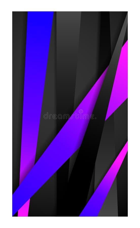 Geïsoleerde banner abstracte achtergrond voor tablet_violet van het behangsmartphone van het smartphonemobiele web royalty-vrije illustratie