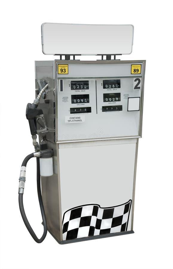 Geïsoleerde benzinepomp, royalty-vrije stock afbeeldingen