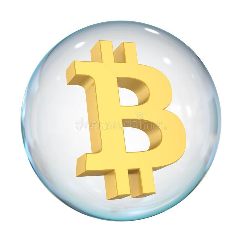 Geïsoleerde Bitcoinbel royalty-vrije illustratie