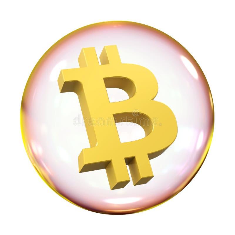 Geïsoleerde Bitcoinbel vector illustratie
